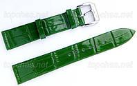 Ремінець Slava (Слава) 20 мм для наручних годинників, натуральна шкіра, зелений