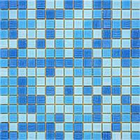 Мозаика стеклянная голубая GLmix9