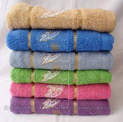 Перья 6 шт в уп. Размер 0,5*0,9 лицево 100% хлопок полотенце оптом большой опт самая дешевая цена 7км Одесса