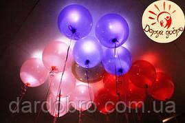№1А Светящиеся шары с гелием 30 см Днепр