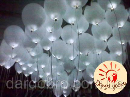 №2А Светящиеся шары с гелием 30 см Днепр
