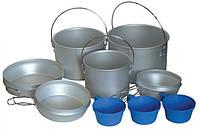Набор посуды из аллюминия Tramp (2,9+1,2)л + 2чашки TRC-002 (не полный)