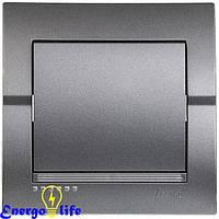 Выключатель Lezard DERIY проходной, темно-серый металлик, 702-2929-105