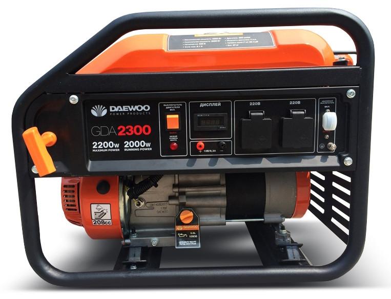 Генератор бензиновый Daewoo GDA 2300 (2,2кВт)