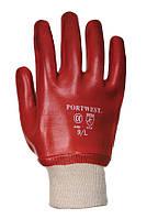 Перчатки рабочие Portwest A400 ПВХ полный облив
