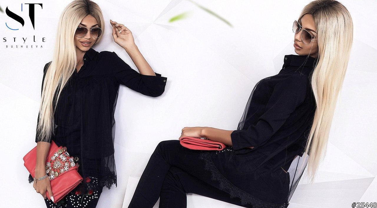 Модна жіноча блуза покрита євро-сіткою