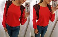 Стильная и красивая рубашка Ткань качественный креп-шифон, дорогое кружево много цветов сопт№148-160, фото 1