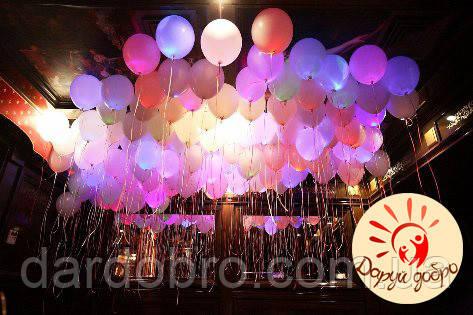 №3 Светящиеся шары с гелием 25 см Днепр