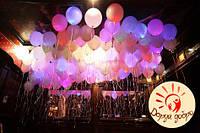 №3А Светящиеся шары с гелием 30 см Днепр