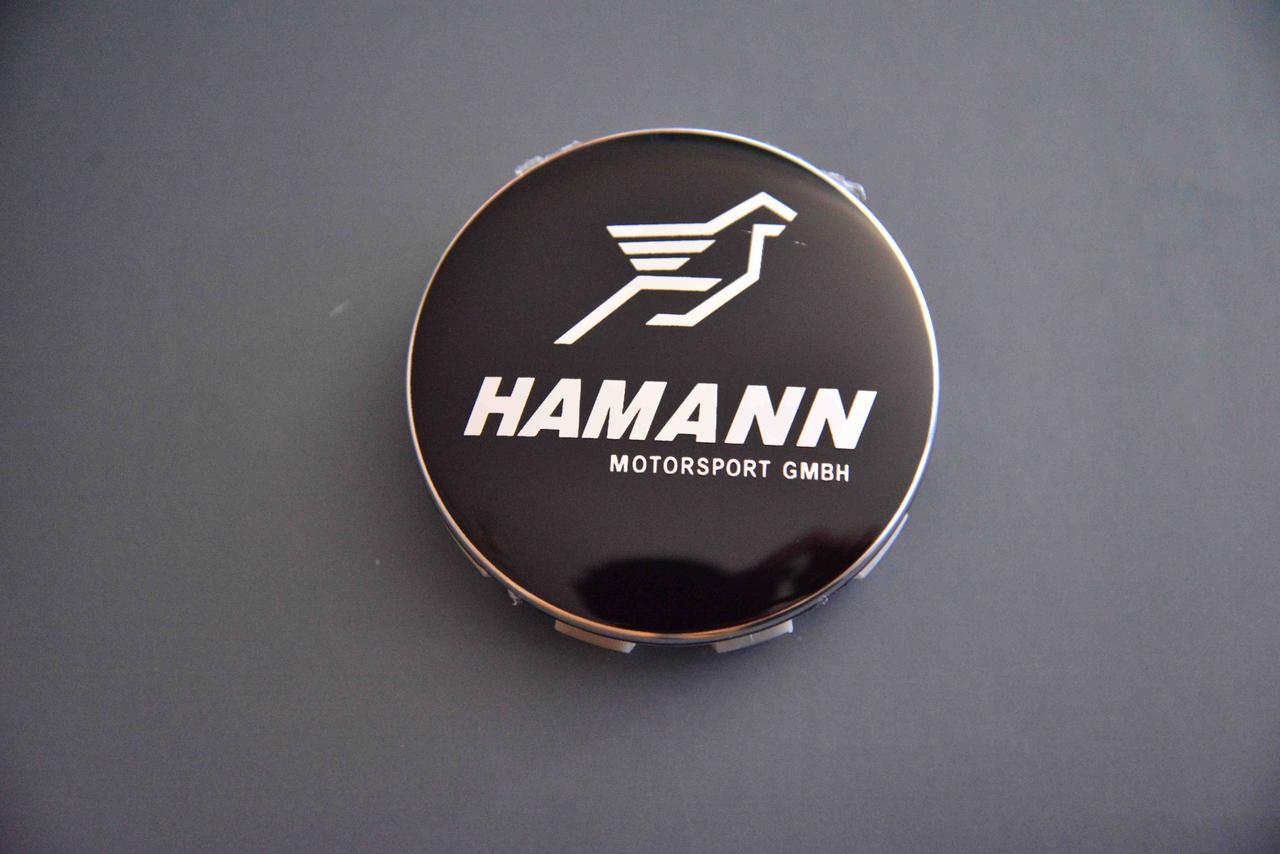 Колпачки заглушки на литые диски  в диски BMW Hamann (БМВ) (68.5/65/10) 36136783536 черные