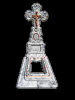 Памятник бетонный, комплект Крест