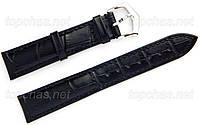 Ремешок Slava (Слава) 16 мм для наручных часов, натуральная кожа, черный, строчка