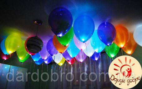 №4 Светящиеся гелиевые шары 25 см Днепр