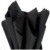 Тишью папиросная бумага 17 гр/м (упаковка 100 листов) Однотонная, Черная