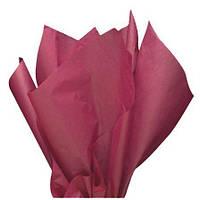 Тишью папиросная бумага 17 гр/м (упаковка 100 листов) Однотонная, Бордо