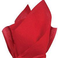 Тишью папиросная бумага 17 гр/м (упаковка 100 листов) Однотонная, Красная