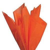 Тишью папиросная бумага 17 гр/м (упаковка 100 листов) Оранжевая
