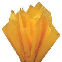 Тишью папиросная бумага 17 гр/м (упаковка 100 листов) Однотонная, Темно-желтая