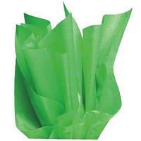 Тишью папиросная бумага 17 гр/м (упаковка 100 листов) Однотонная, Зеленое яблоко