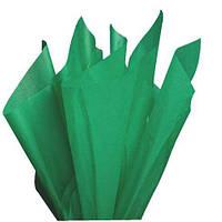 Тишью папиросная бумага 17 гр/м (упаковка 100 листов) Однотонная, Зеленая