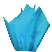 Тишью папиросная бумага 17 гр/м (упаковка 100 листов) Однотонная, Голубая