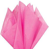 Тишью папиросная бумага 17 гр/м (упаковка 100 листов) Однотонная, Темно-розовая