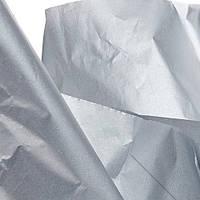 Тишью папиросная бумага 17 гр/м (упаковка 100 листов) Однотонная, Серебро