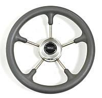 Рулевое колесо Pretech нержавейка 32 см серое / чьорное