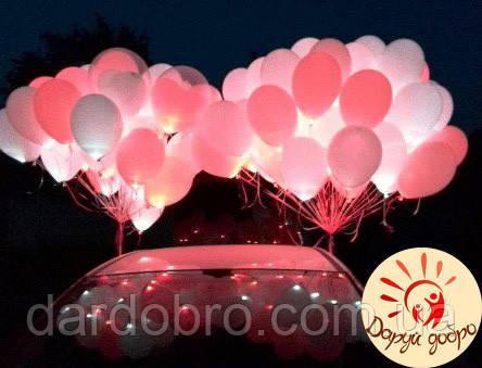 №8 Гелиевые светящиеся шары 25 см Днепр