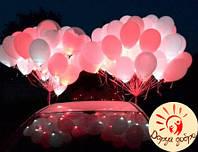 №8А Гелиевые светящиеся шары 30 см Днепр