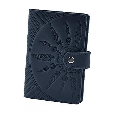"""Обложка для паспорта 3.0 """"Инди"""" Ночное небо (кожа)"""