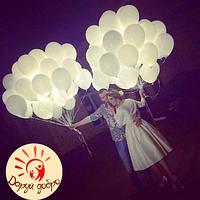 №10 Гелиевые светящиеся шары 25 см Днепр