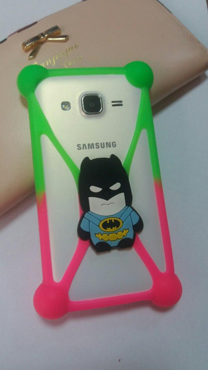 Універсальний 3D чохол-бампер Batman green-pink