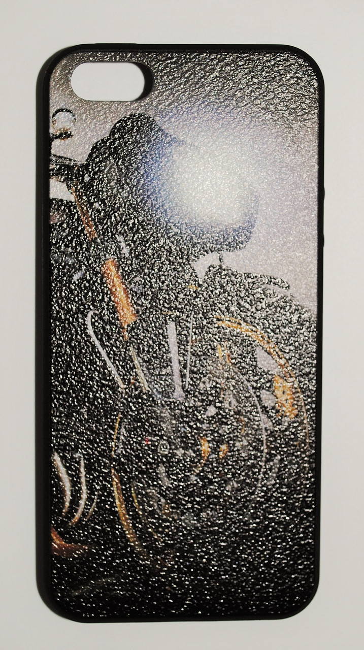 Чехол на Айфон 5/5s/SE White Knights рифленый Пластик Мотоцикл