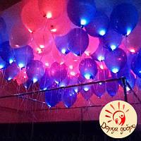 №11 Гелиевые светящиеся шары 25 см Днепр