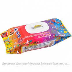 """Влажные салфетки для детей """"Florika"""" 132 штуки с клапаном"""