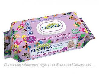 """Влажные салфетки для детей """"Florika"""" 90 штук с клапаном"""