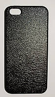 Чехол на Айфон 5/5s/SE White Knights рифленый Пластик под кожу Черный