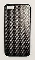 Чехол на Айфон 5/5s/SE White Knights рифленый Пластик Сетка Черный