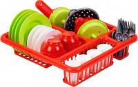 Набор Сушилка с посудой (красный), Ecoiffier (000608-2)