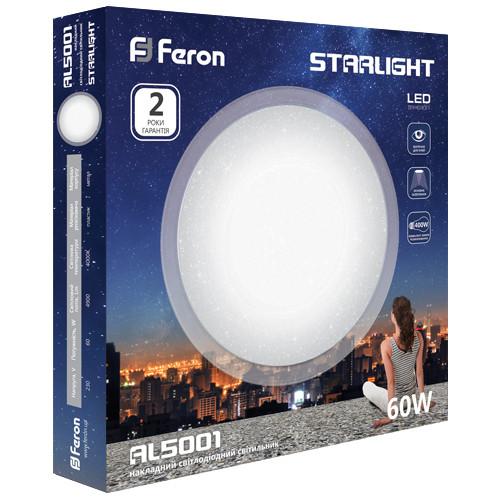 Светодиодный светильник STARLIGHT Feron 60W 4000K (AL5001) Без ПДУ