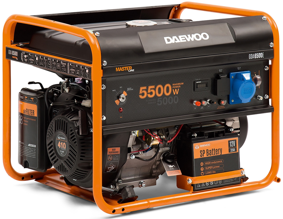 Генератор бензиновый Daewoo GDA 6500E (5,5кВт)