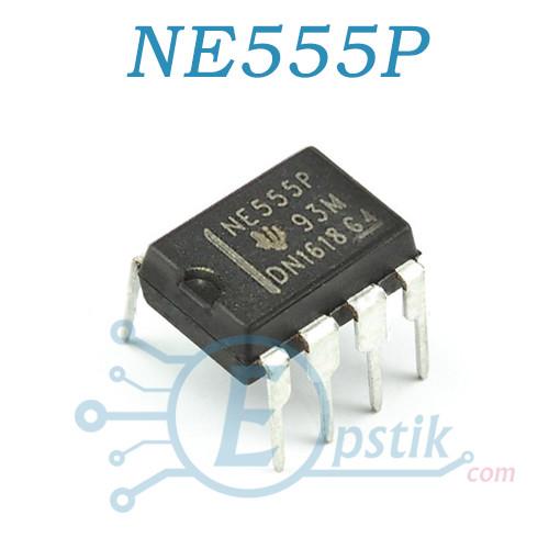 NE555P, (КР1006ВИ1, SE555, LM555), прецизионный таймер, DIP8