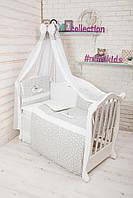 Детская постель в кроватку набор Теді 7 елементів