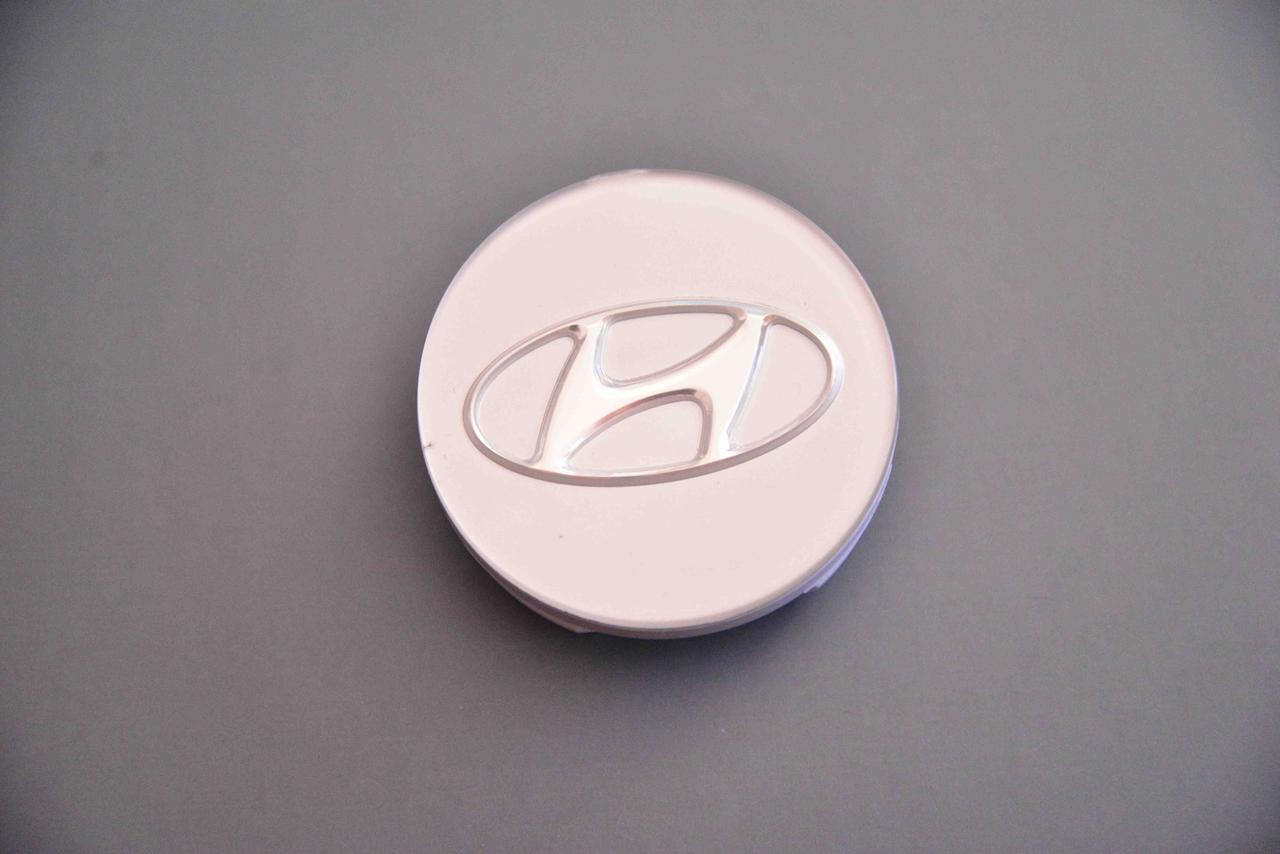 Колпачок заглушка для диска в диск Hyndai Хюндай серебро (60/55/10)