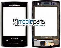 Оригинальный Сенсор (Тачскрин)  для Sony Ericsson X10 mini (С рамкой) (Черный)