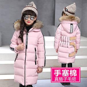 Длинная детская куртка с мехом, фото 2
