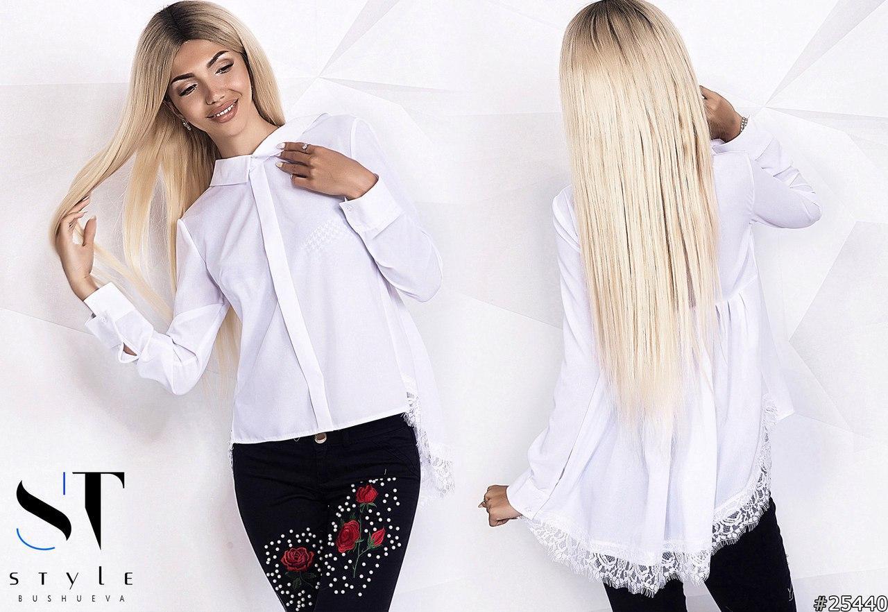 378f4faa5c6 Женская шифоновая блузка с удлиненной спинкой