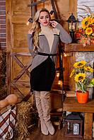 Вязанное платье Корсет песок - капучино