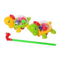 Каталка черепаха на палке с шариками 268 G